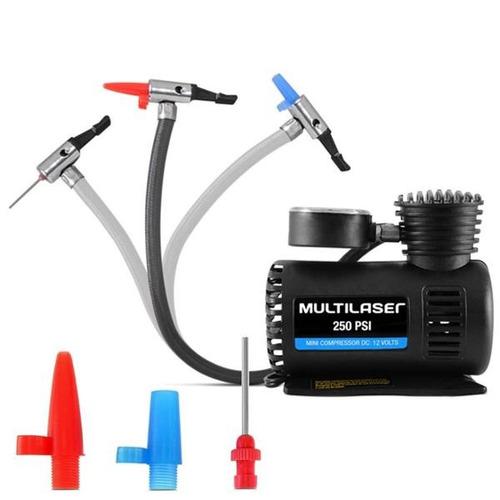 compressor de ar portatil 12v 250 psi pneu bola carro bike
