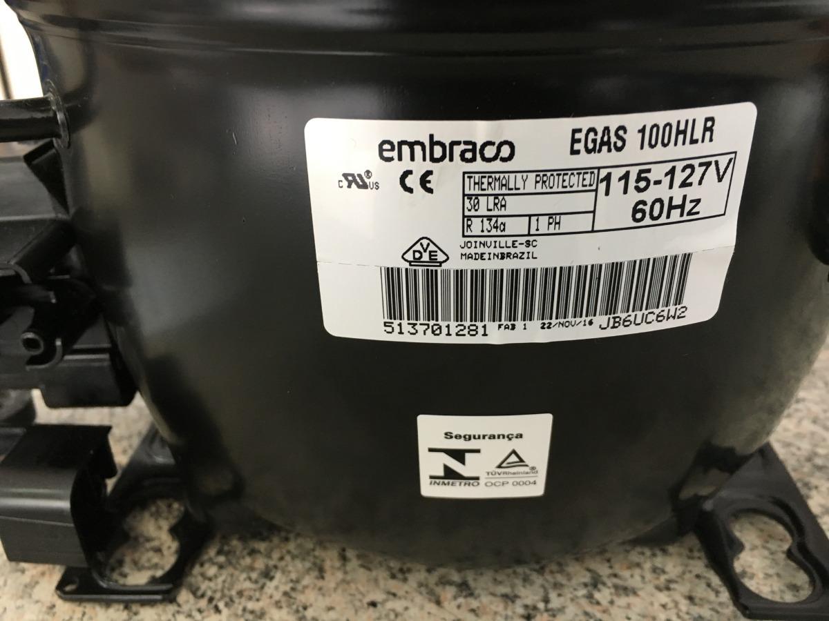 Compressor Embraco 1/3 Hp 110v R134a
