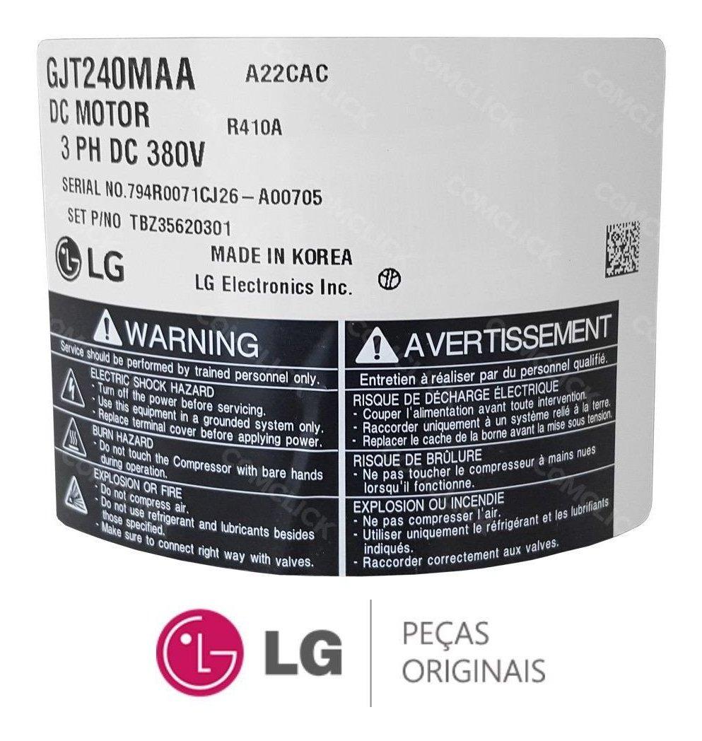 Compressor Inverter Ar Condicionado Lg Tbz35620301 Original R