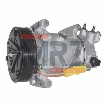 compressor peugeot 206 307 c3 c4 ds3 sanden sd6c12 eletrônic