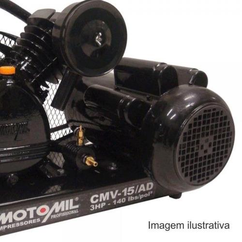 compressor poço artesiano 120m ar direto 3hp bivolt motomil