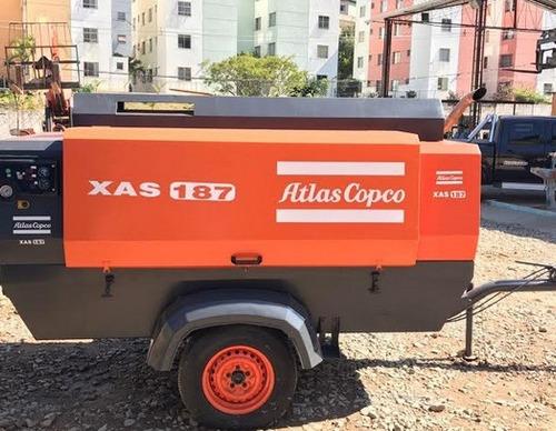 compressor seminovo atlas copco xas187 2009