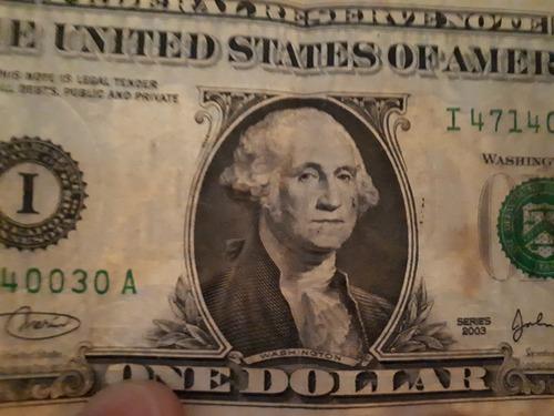compro billetes de 1, 2 y 5 dolares