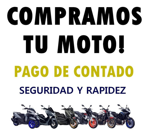 compro motos usadas pago contado yamaha ybr titan bajaj ns