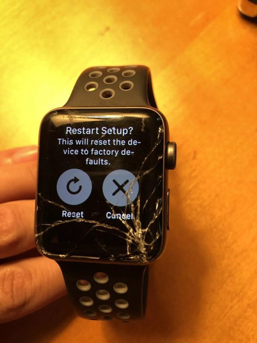 compro tela apple watch com vidro quebrado lcd funcionando