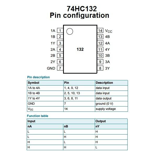 Compuerta Logica 74hc132 Nand Schmitt Trigger 74132 1199 En