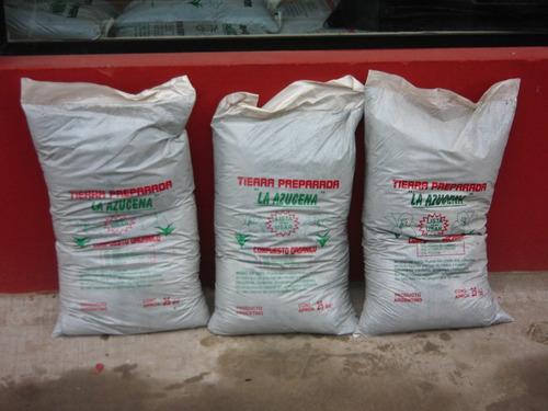 compuesto organico bolsas grandes de 25dm tierra sustratos