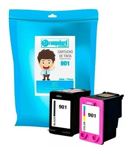 compuhard kit 2 tinta alternativa 901 negro y color