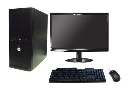 computador 4gb e monitor lcd 19 + teclado + mouse ( novo )