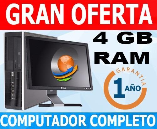 computador -4gb -lcd 17-envio gratis- garantia 1año