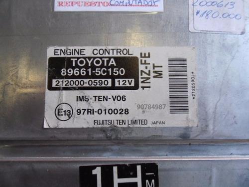 computador 89661-5c150 toyota yaris sedan año 2003-2006