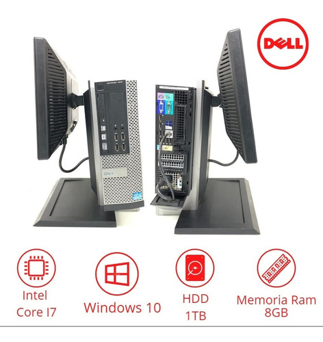 computador barato dell core i7 ram 8gb hd1tb + wifi