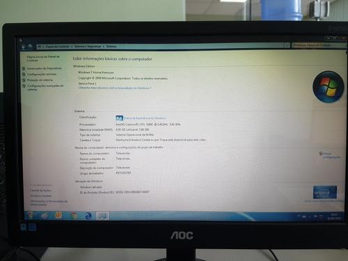 computador bematech com tela, cpu, teclado e mouse