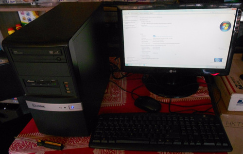 computador completo 2g ram, 320g dd, amd sempron 2.1ghz, 19p