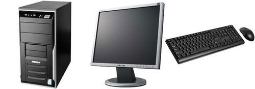 computador completo core 2 duo 1gb hd80 + monitor lcd 17