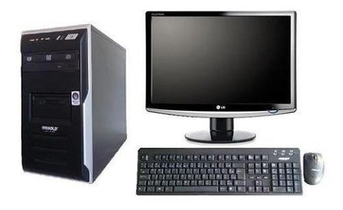 computador completo core 2 duo + monitor 17+ wi-fi