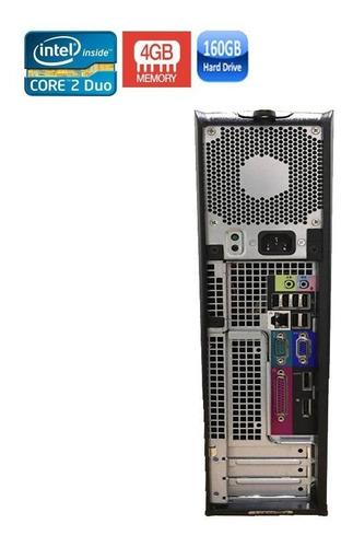 computador completo dell 780 core 2 duo 4gb hd 160gb + wi-fi