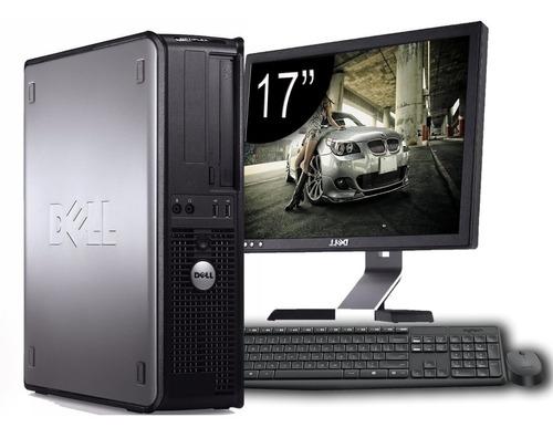 computador completo dell optiplex 4gb ram - monitor 17'' lcd