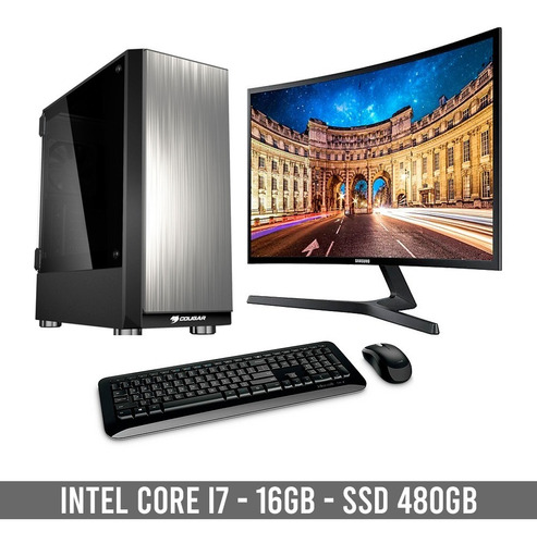 computador completo intel core i7 9700 - 16gb - ssd 480gb