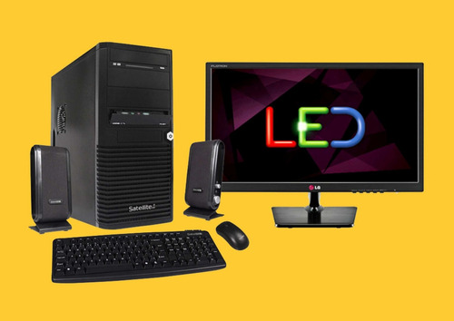computador completo - intel dualcore-hd500gb-4gb-led lg 20