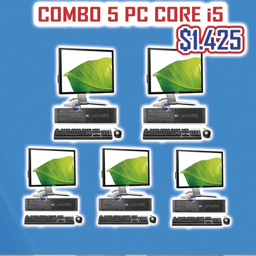 computador completo para cyber oficina hogar core 2 core i5