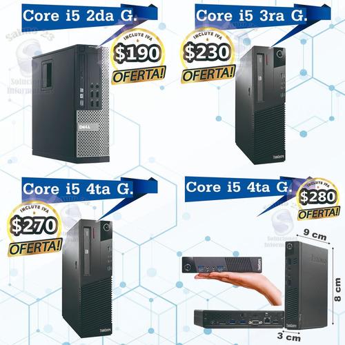 computador completo para cyber oficina hogar core 2 i3 i5