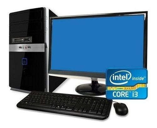computador core i3 monitor lcd 19 polegadas 4gb ddr3 hd 500g