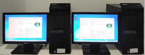 computador core i3(2ª ger.)4gb ram, hd 500 monitor 17 (unit)