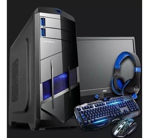 computador cpu gamer completo amd a4 6300 +monitor 17 + wifi