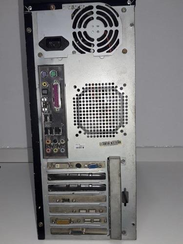 computador cpu kit amd athlon 64 bits, 3gb, 80gb win 7