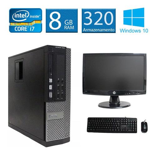 computador dell 7010 i7 8gb 320gb monitor 18 polegadas