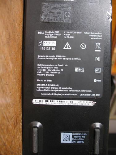 computador dell inspiron 3647 i3 4150 3,5ghz 4gb 500hd wi-fi