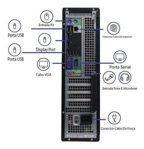 computador dell optiplex 7010 i3 8gb 120ssd monitor 17