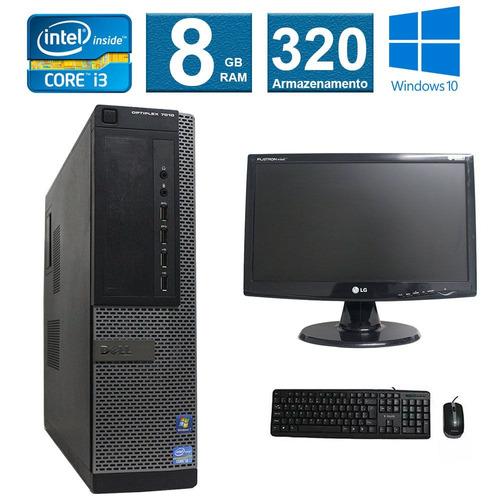 computador dell  optiplex 7010 i3 8gb 320hd monitor 19