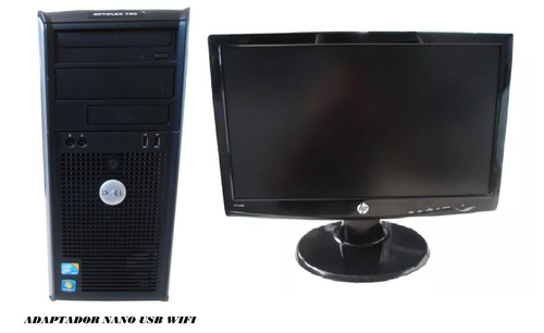 computador dell optiplex 780 4gb ddr3 320gb tela 19 pol wifi