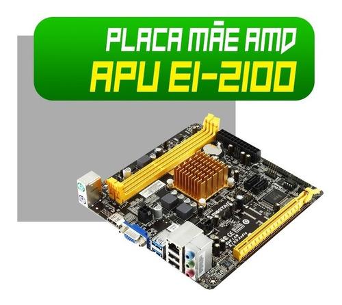 computador desktop amd e1-2100 4gb ssd 120gb cpu basico