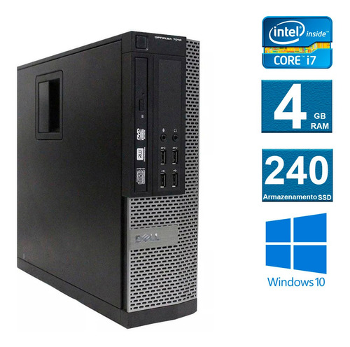 computador desktop dell optiplex 7010  i7 4gb 240ssd