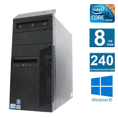 computador desktop lenovo thinkcenter m90 i3 8gb 240ssd