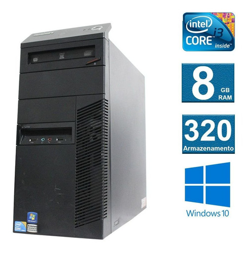 computador desktop lenovo thinkcenter m90 i3 8gb 320hd