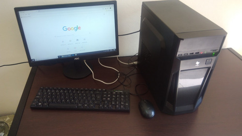 computador desktop pentium g4400 4gb - ssd 120gb - sem win - monitor aoc 18,5