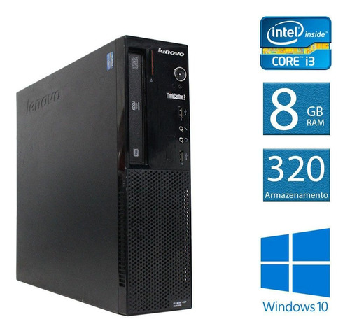 computador desktop thinkcentre lenovo edge 72 i3 8gb 320hd