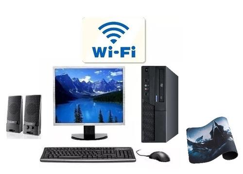 computador e monitor lcd 15'' ssd 120gb teclado e mouse