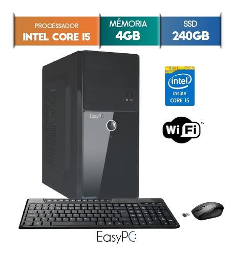 computador easypc intel i5 4gb ssd 240gb wifi