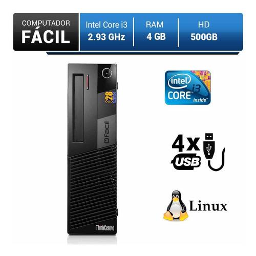 computador fácil intel core i3 4gb ddr3 hd 500gb
