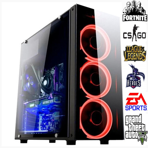 computador gamer i5 3.6ghz  8gb rx570 4gb 256 bits hd 1 tb