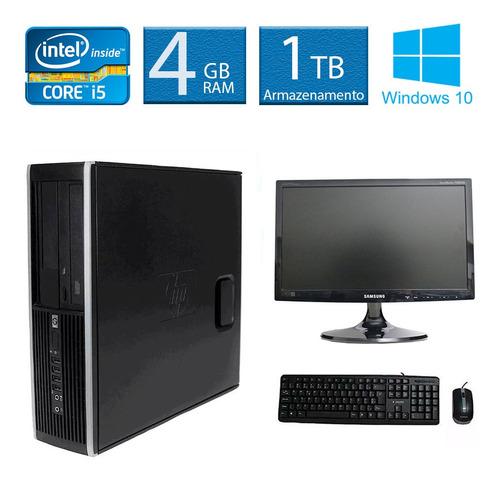 computador hp 8200 i5 4gb 1tb monitor 19 polegadas