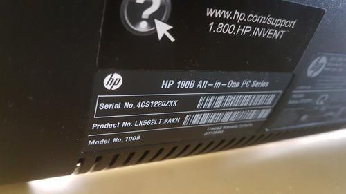computador hp all in one hp 100b