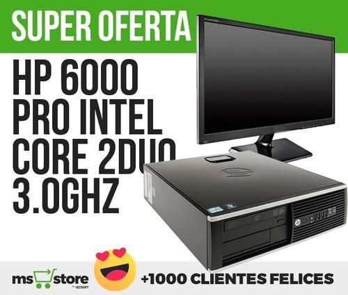 computador hp core 2 duo dd80gb-ram 2gb dd3-monitor lcd18.5