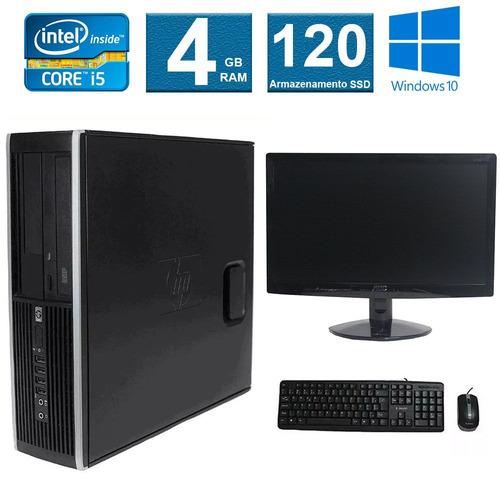 computador hp elite 8100 i5 4gb 120ssd monitor 15 polegadas