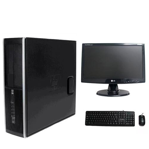 computador hp elite 8100 i5 4gb 120ssd monitor 19 polegadas